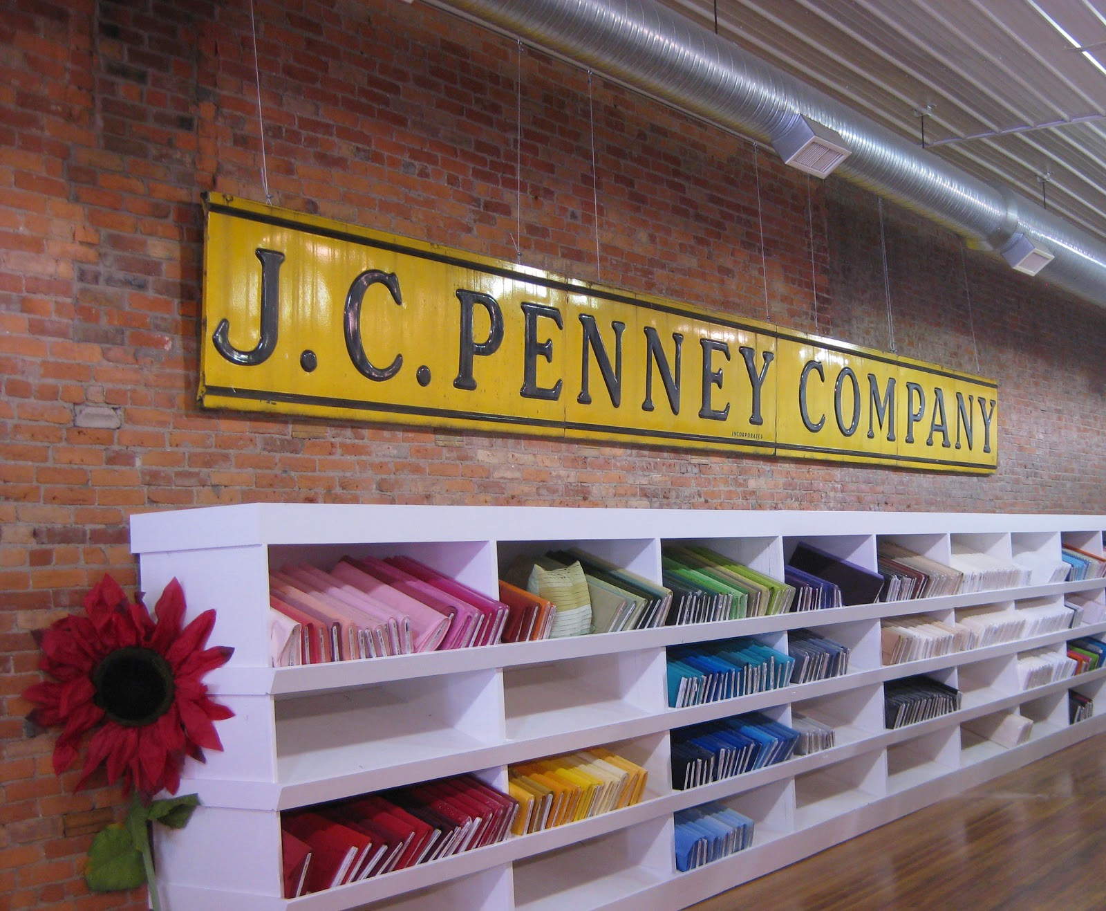 Missouri Star Quilt Company, JC Penny Sign