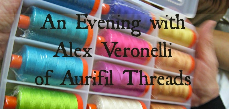 Alex Vernonelli of Aurifil Threads at Country Traditions, Fremont, NE