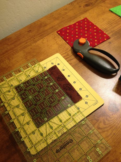charm square and rotary cutter