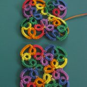 Momcat Monday-Needle Tatting #8 (Rhombic Earrings).