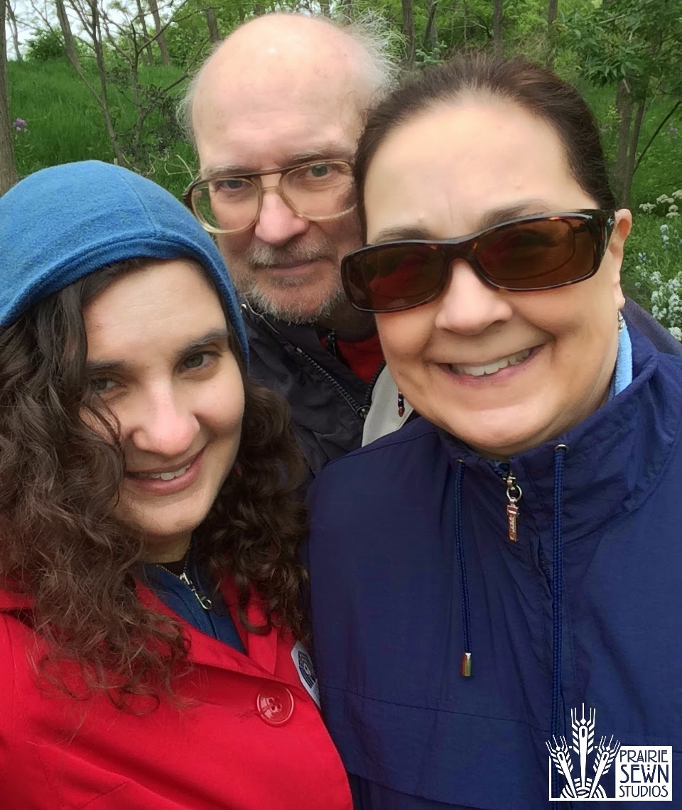 Linda Chaney, Bill Chaney, Laura Chaney at Lauritzen Gardens