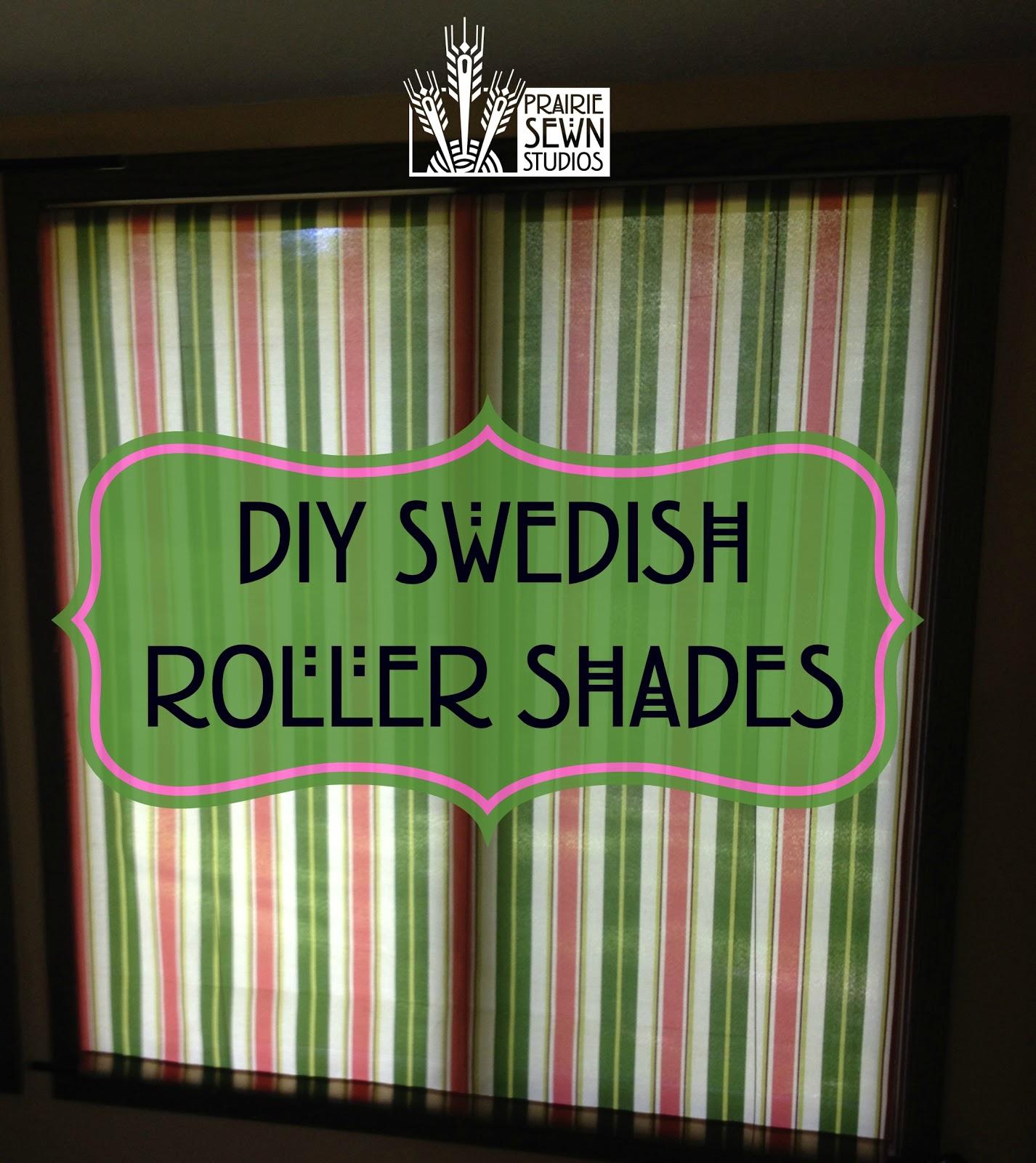 DIY Swedish Roller Shades
