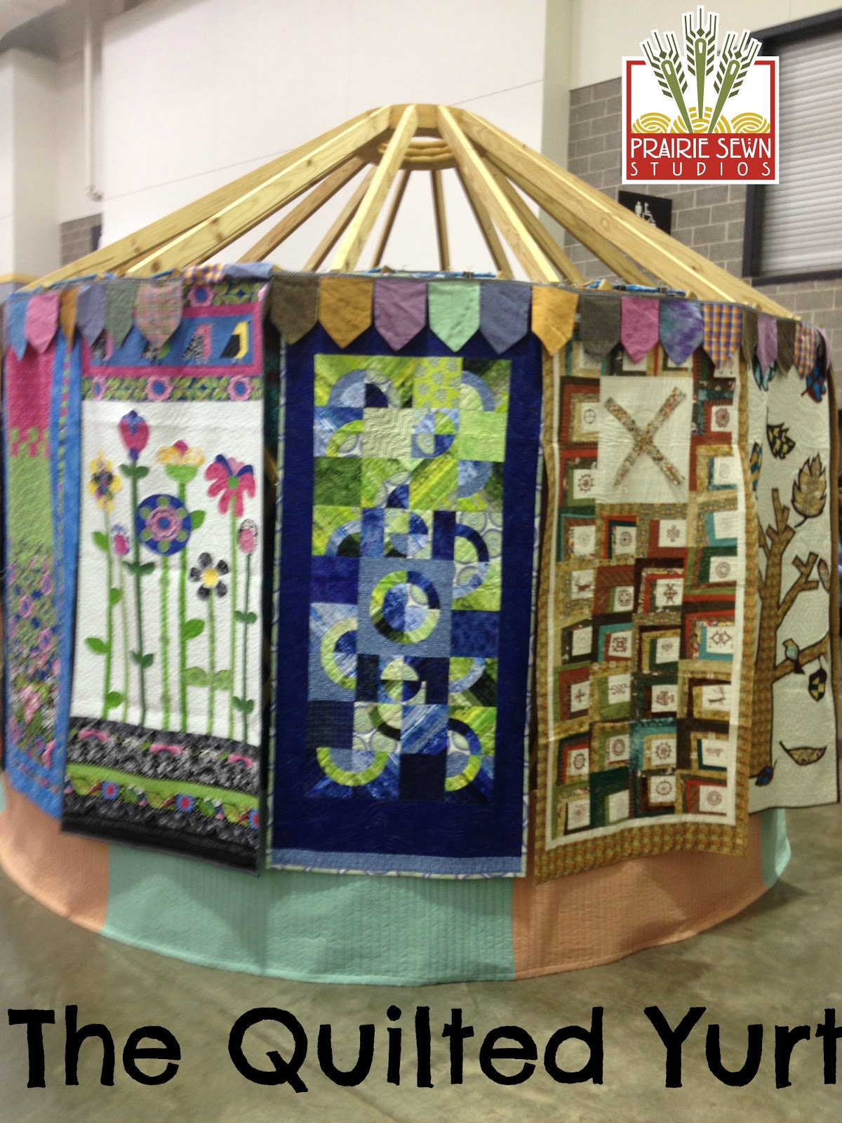 Quilted Yurt at Wisconsin Quilt Expo