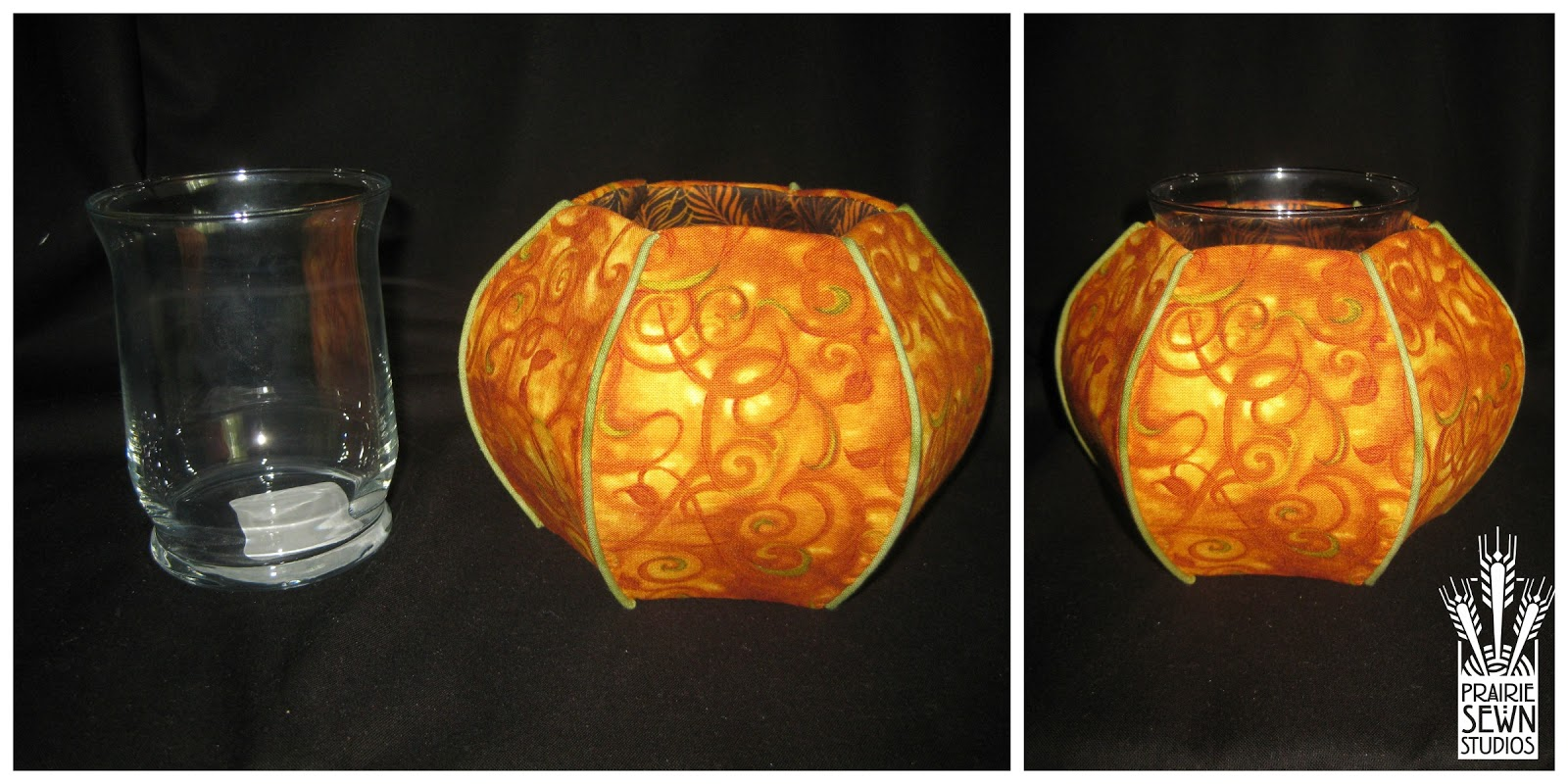 Potpourri vase-Pumpkin with Piping