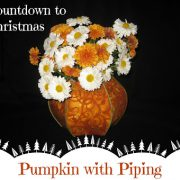 Pumpkin with Piping-Countdown to Christmas 2015