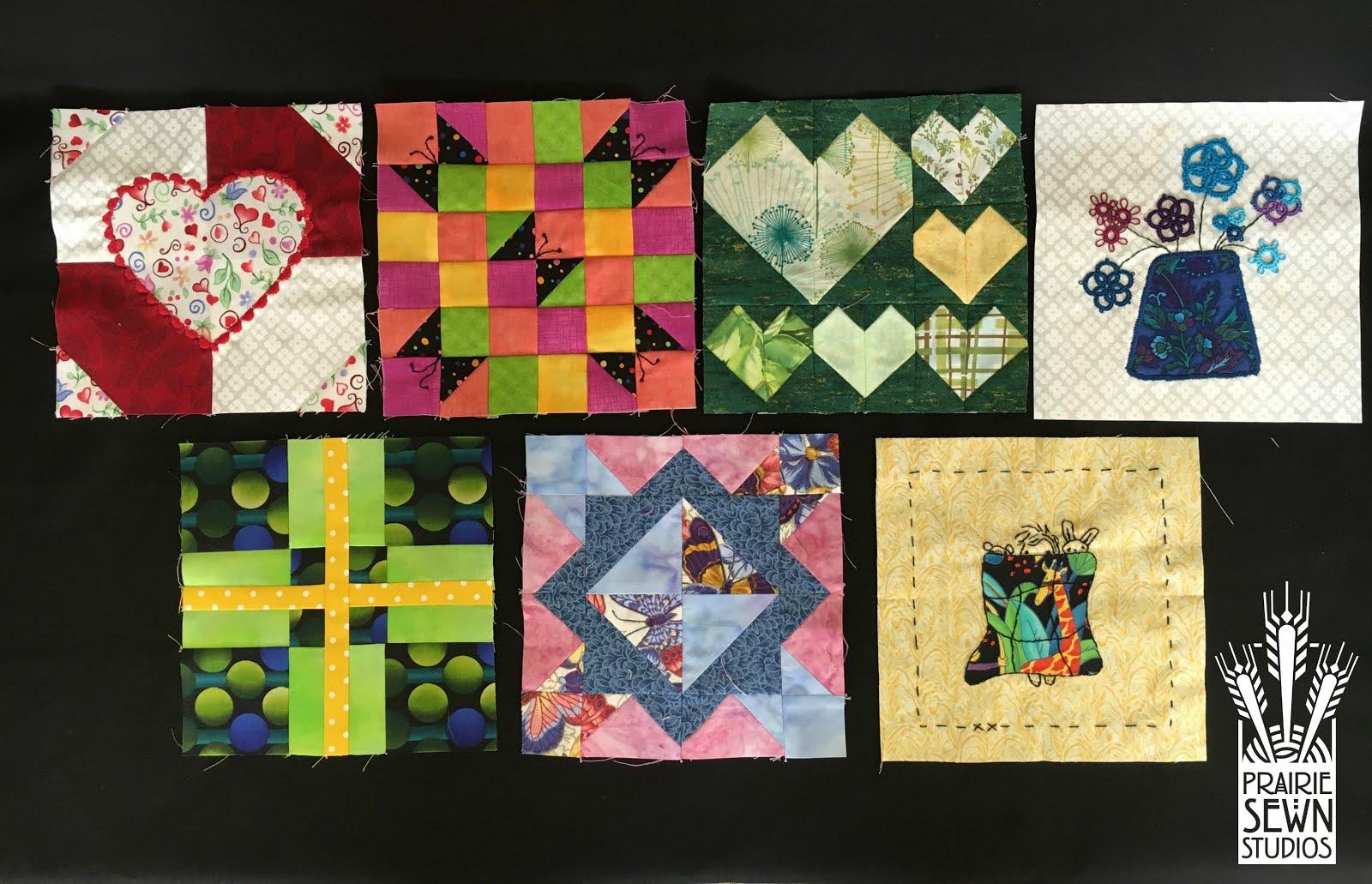 The Splendid Sampler First Seven Blocks