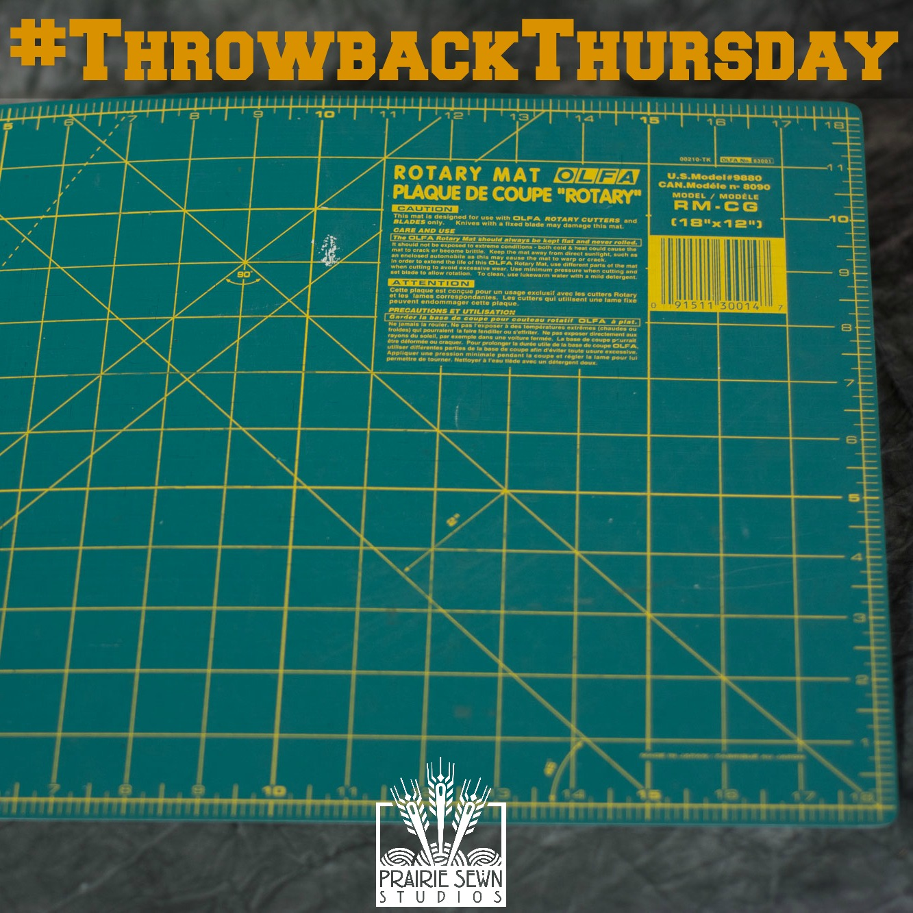 Throwback Thursday Self-Healing Cutting Mat