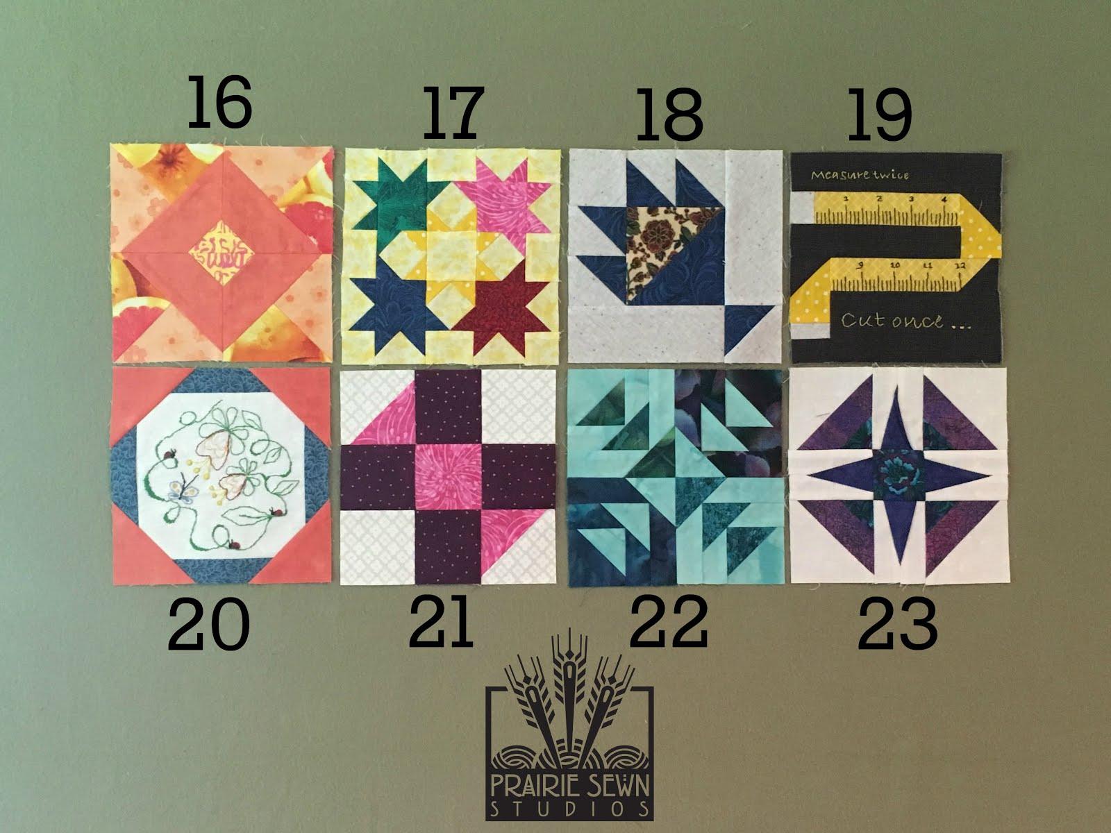 The Splendid Sampler Blocks 16-23
